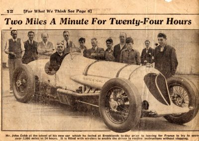 33 gallery projects - The Star 18.7.1933. John Cobb in the new Napier-Railton